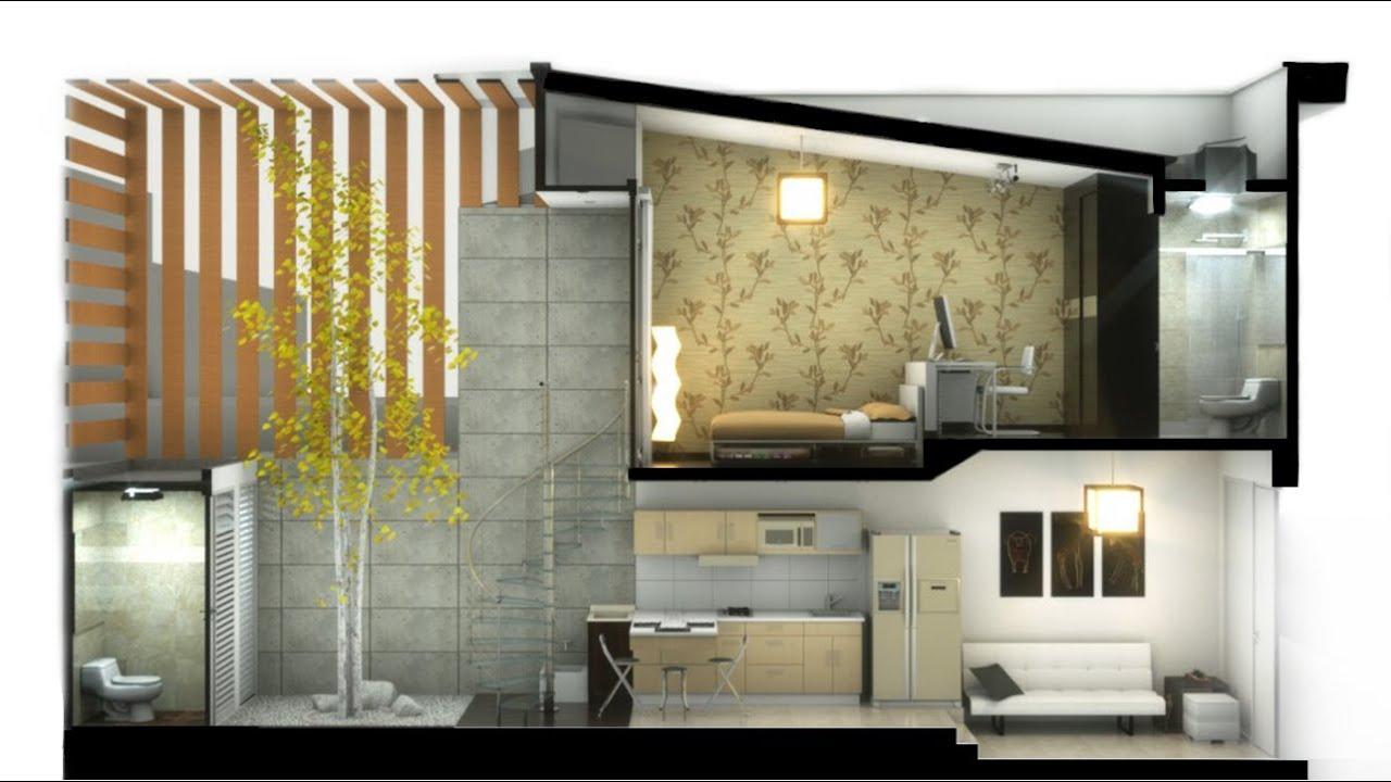 Casa peque a minimalista hernandez 2 pisos de x 12 for Decoracion interior de casas minimalistas