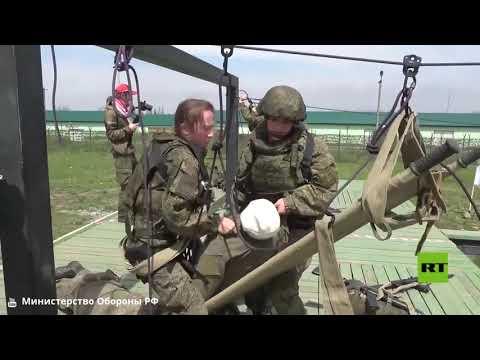 مشاهد من مسابقة النساء العسكريات في فلاديقوقاز الروسية