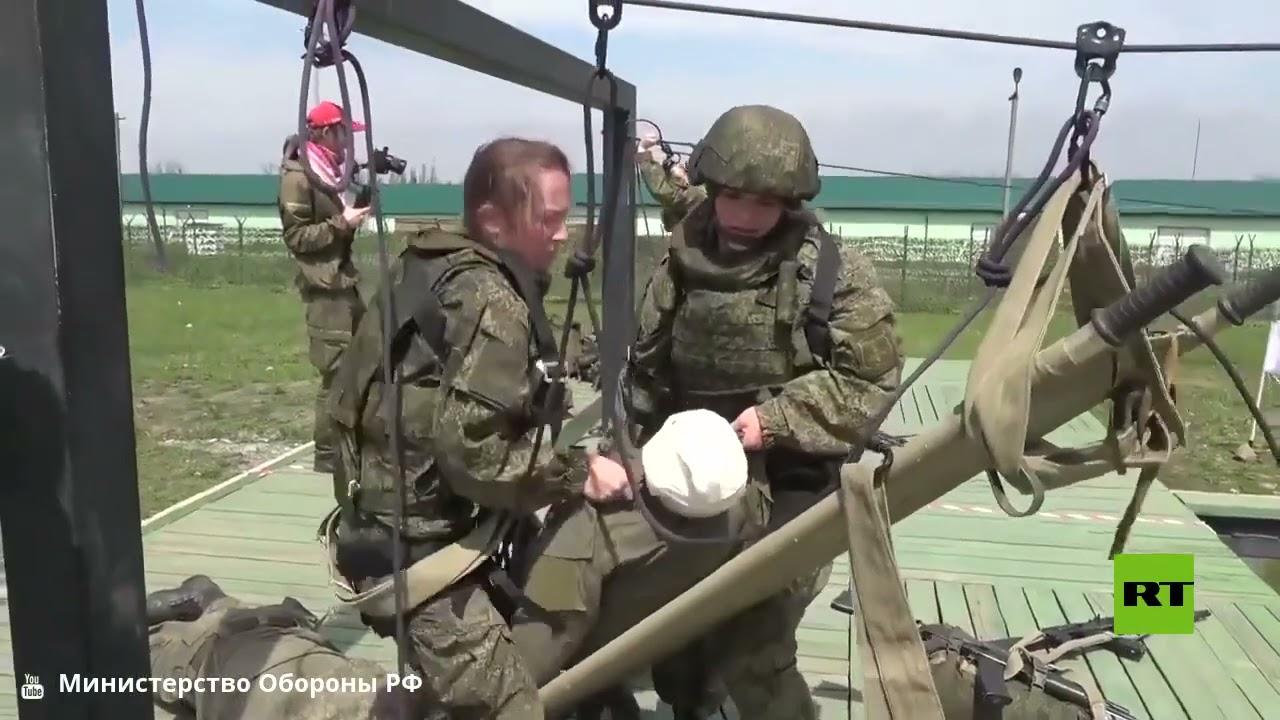 مشاهد من مسابقة النساء العسكريات في فلاديقوقاز الروسية  - 16:58-2021 / 5 / 4