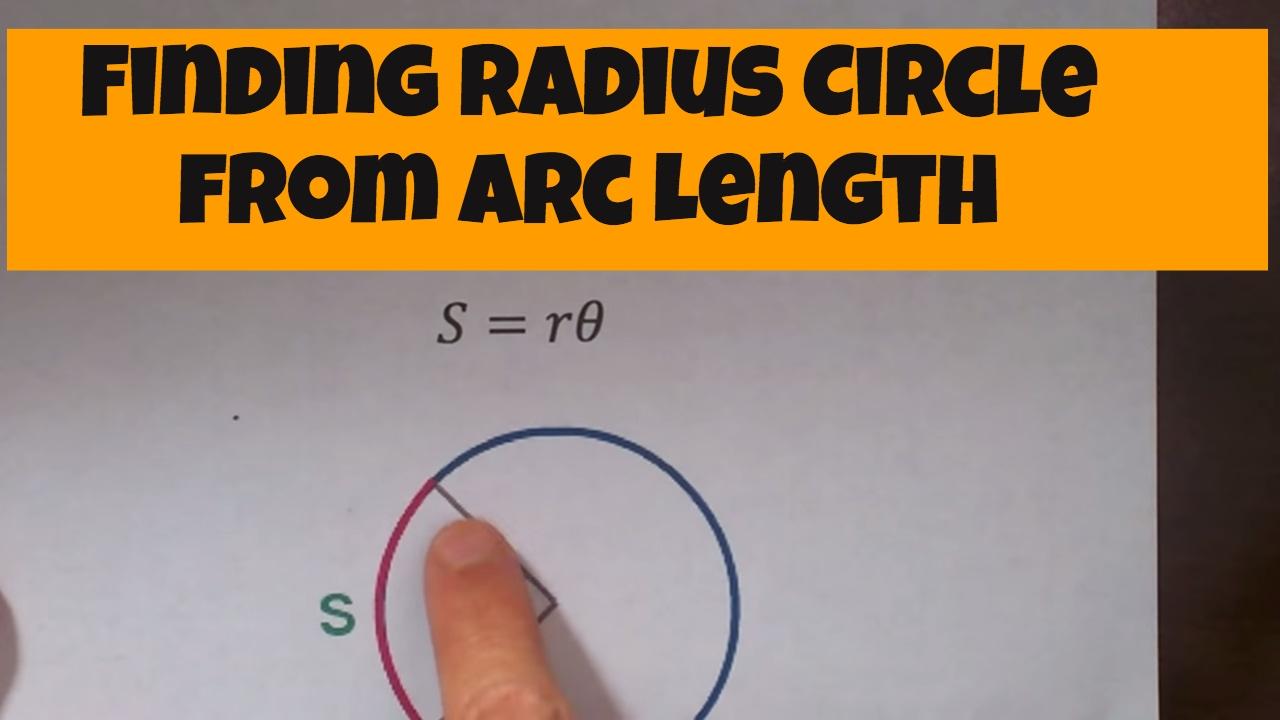 Finding radius circle from arc length-Geometry Help-MooMooMath