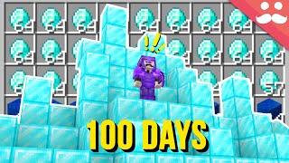 Mining for 100 Days in Minecraft