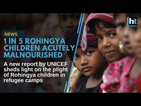 Rohingya Muslim children living in poor conditions in refugee camps