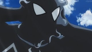 Symbiote Spidey VS Black Widow And Thor - Marvel Disk Wars: The Avengers Anime Clip