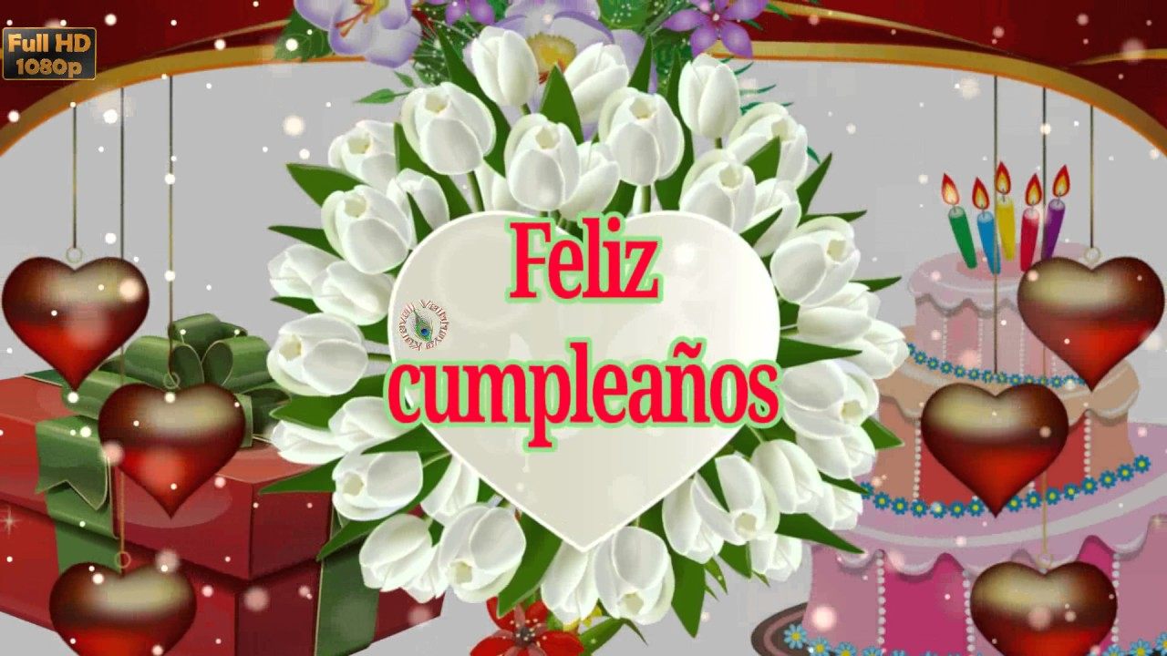 Birthday Wishes In Spanish Greetings Messages Ecard Animation Latest Happy Video