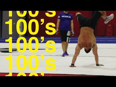 100's workout - Rich Froning,  Danica Patrick, & Ricky Stenhouse