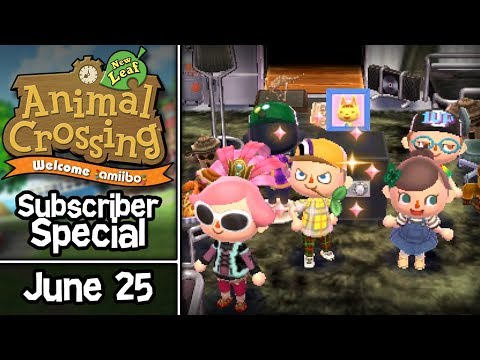 Animal Crossing: New Leaf, Subscriber Special #4 • June 25 • Visiting Twitch Subscriber Towns!