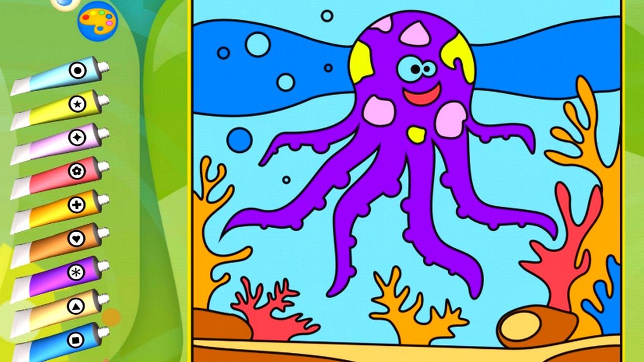 Раскраска - Игра. Морские животные. Развивающее приложение ...