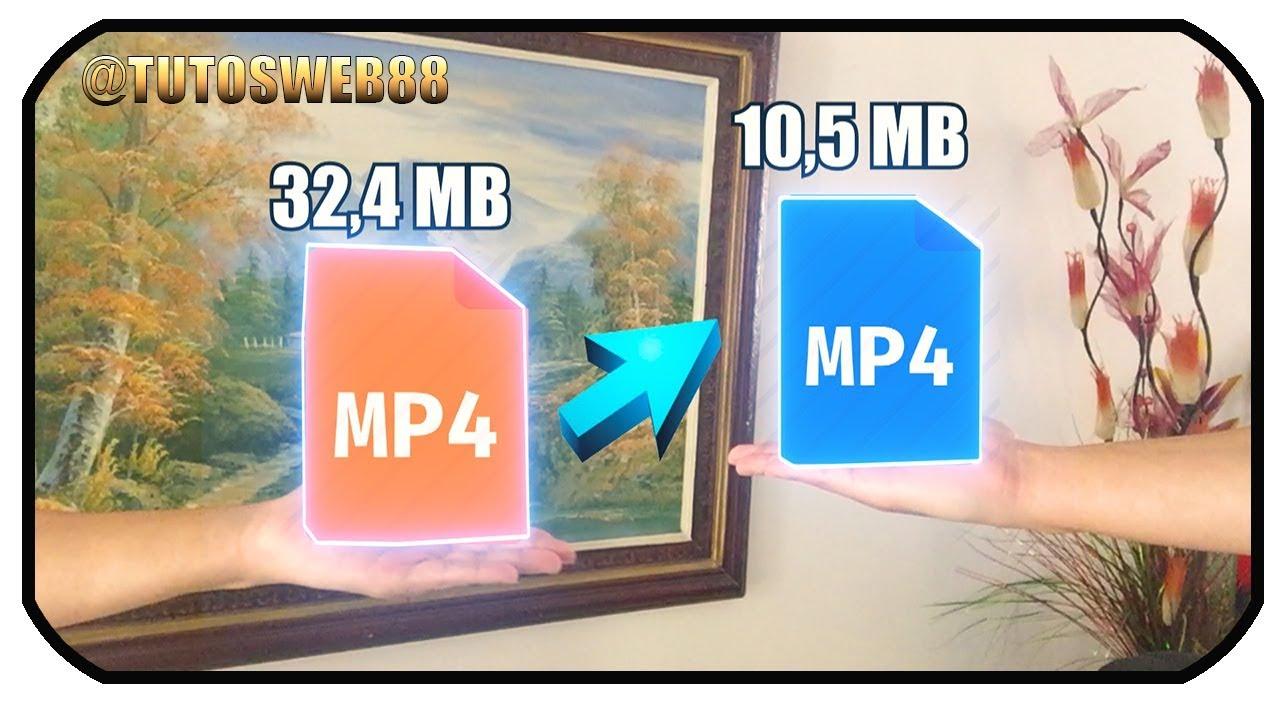 como bajar peso a un video mp4