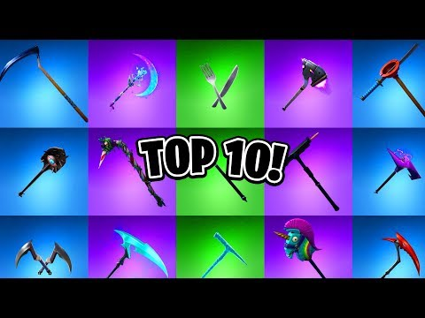 Top 10 Fortnite Pickaxes Ranked! (Ranking Best Fortnite Pickaxes)