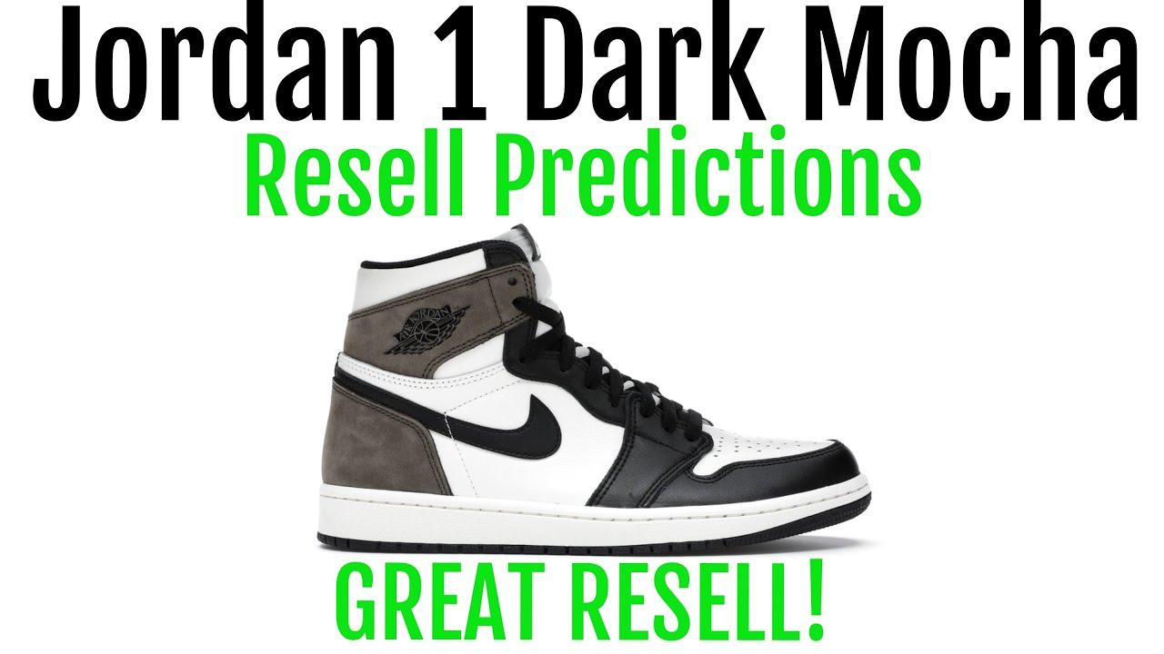Jordan 1 High Dark Mocha - Resell Predictions - Great Resell ...