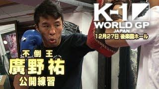 「K-1 WORLD GP」12.27(水)後楽園  廣野 祐 実力差を見せて勝つ!そして、最強王者アラゾフに挑む!