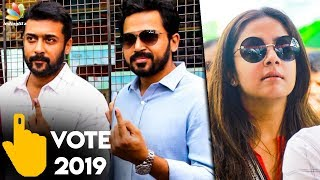 LIVE : Suriya & His Family Casted Their Vote | Karthi , Jyothika  | Lok Sabha Election 2019