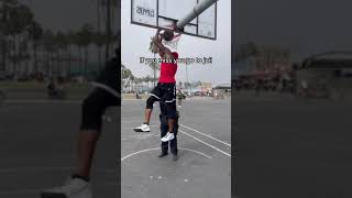 Dunking over police officers at Venice Beach