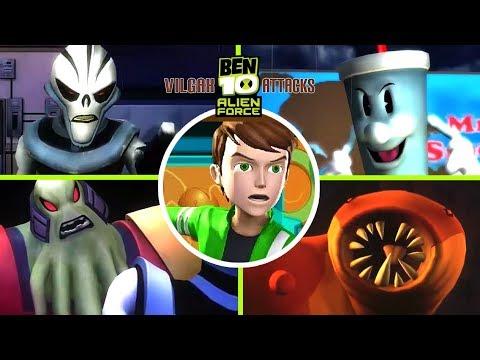 Ben 10 Alien Force: Vilgax Attacks All Bosses | Boss Fights  (X360, PS2, PSP, Wii)