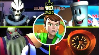 Ben 10 Alien Force: Vilgax Attacks All Bosses | Final Boss (X360, PS2, PSP, Wii)