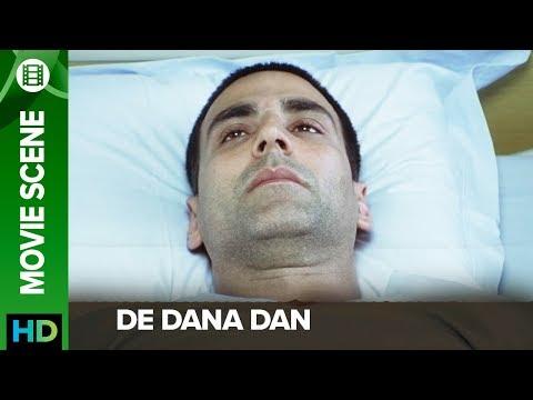 Akshay Kumar loses his memory | De Dana Dan | Movie Scene