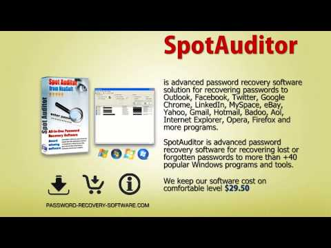 Password Find & Recovery Software SpotAuditor - YouTube