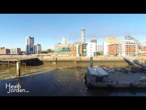Hyper-lapse/Time-lapse Liverpool River Mersey United Kingdom