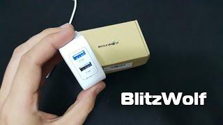 BlitzWolf Dual USB Charger - Розпакування і огляд : Banggood
