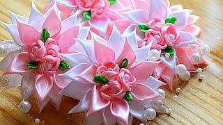 Kanzashi mestre de classe – Flores de fitas