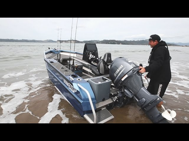 How to Beach Launch - Stabicraft 1450 Frontier 🌊