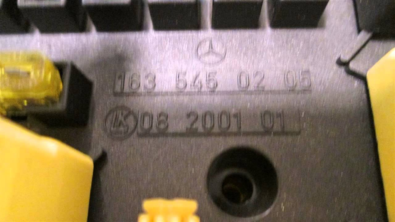 maxresdefault 1999 mercedes ml320 fuse box id 1635450205 mbiparts com used oem C-Class Mercedes-Benz Auxiliary Fuse Box at nearapp.co