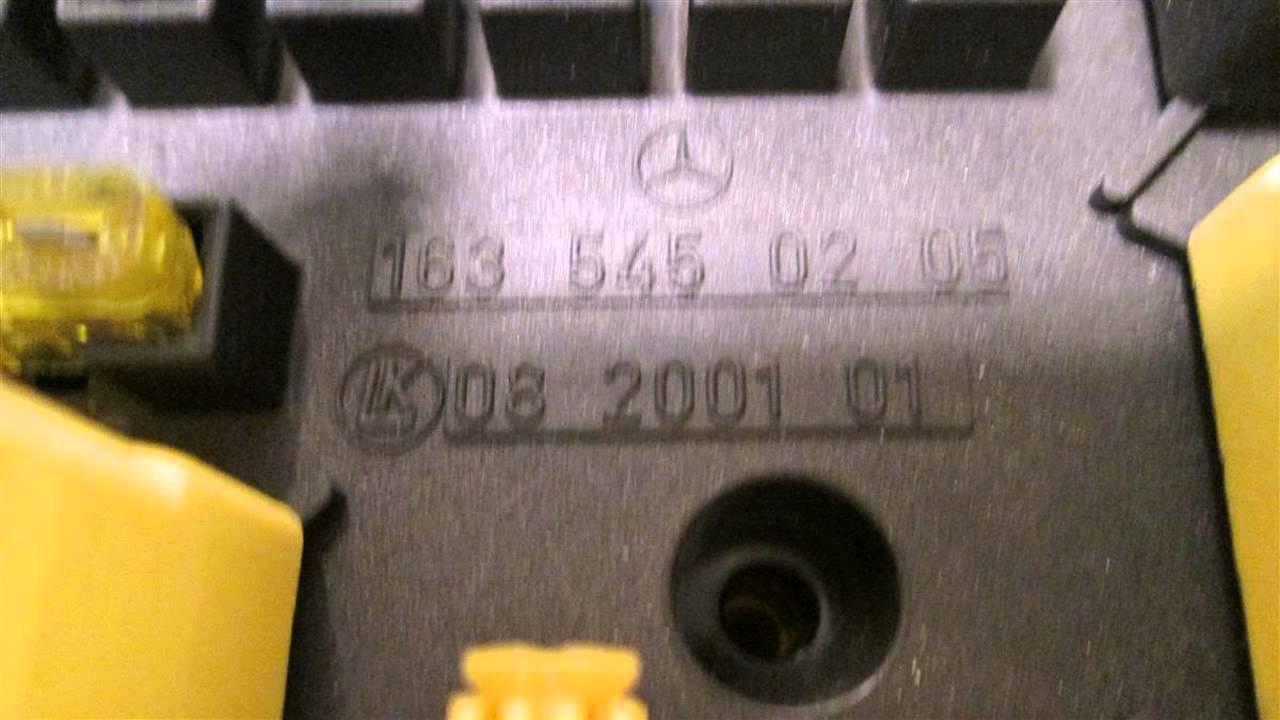 1999 mercedes ml320 fuse box id 1635450205 mbiparts com used oem mercedes parts dismantle oem [ 1280 x 720 Pixel ]