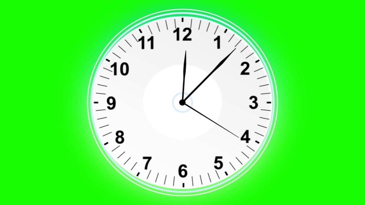 clock in green screen free stock footage