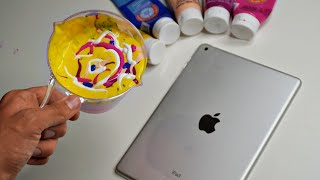 ACRYLIC POURING an IPAD!!! 🎨 📱 (SaTiSFyinG)