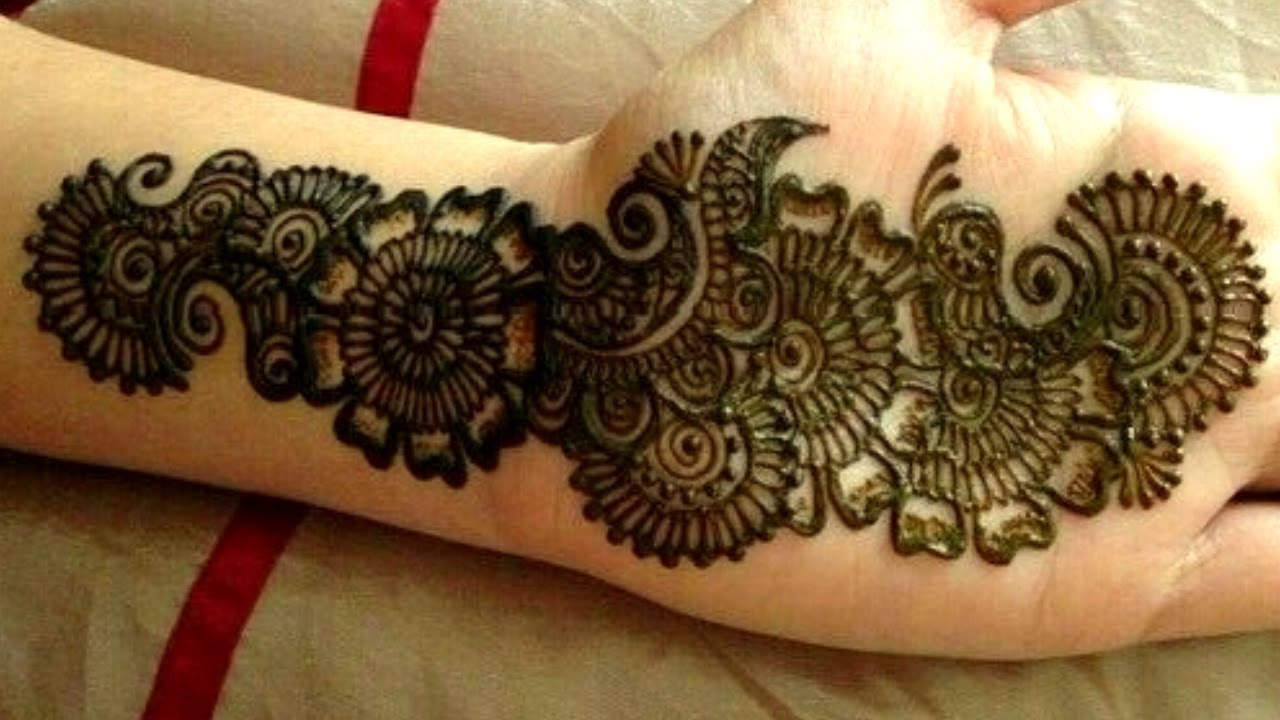 Simple And Easy Arabic Mehndi Design Front Hand
