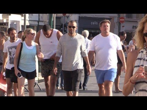 EXCLUSIVE - Tony Parker arrives in Saint Tropez on a Yacht