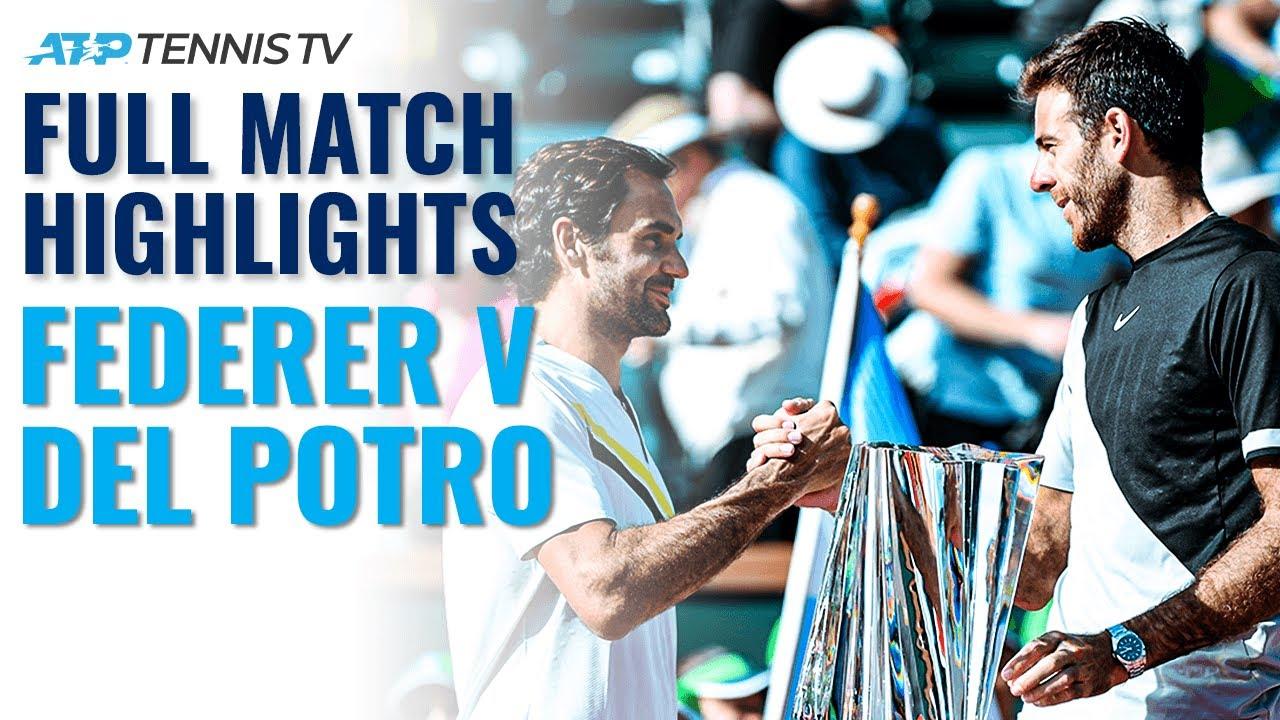 Full Match Condensed (Every Point): Roger Federer v Juan Martin del Potro   Indian Wells 2018