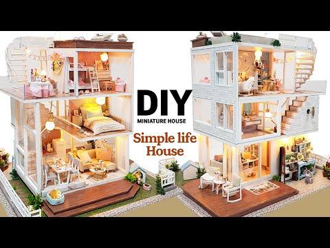 DIY Miniature Dollhouse KitㅣSimple Life House 3Fㅣ심플라이프 3층ㅣ미니어처하우스ㅣ박소소(soso Miniature)