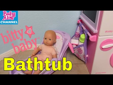 American Girl Bitty Baby Doll BATHTUB Unboxing an PLEASE HELP ME!  BITTY BABY CHANNEL VIDEO