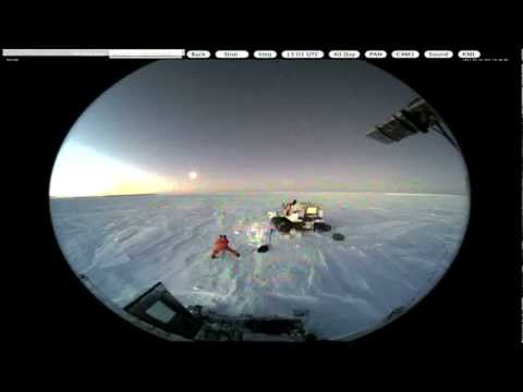 MOON Chasing Nthe Sun 05.30.12 BEING PHOTOGRAPHED BY SCIENTIST AT SOUTH POLE