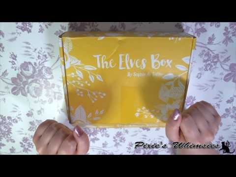 Sophie & Toffee's December 2018 Elves Box + Making My First UV Resin Charm