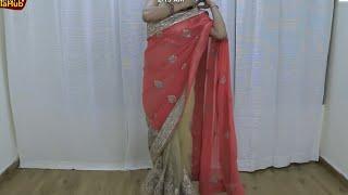 साड़ी पहनना सीखे वो भी बस 3 मिंट में | सबसे आसान तरीके से Sari पहने | Step by Step Net Saree Wearing