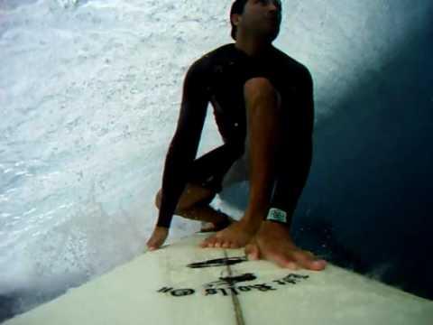 Long barrel surfing in Fiji (Cloudbreak, Tavarua) POV camera