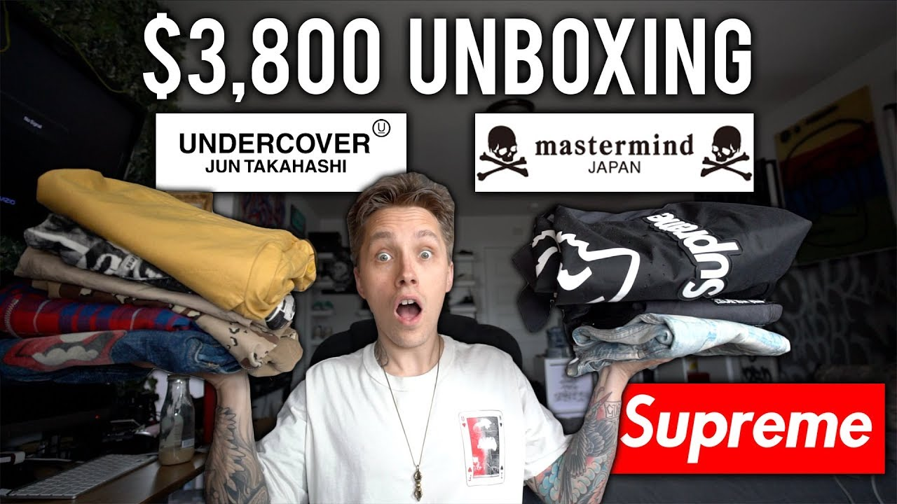 $3800 Unboxing feat. Supreme, Undercover, Mastermind Japan \u0026 MORE!