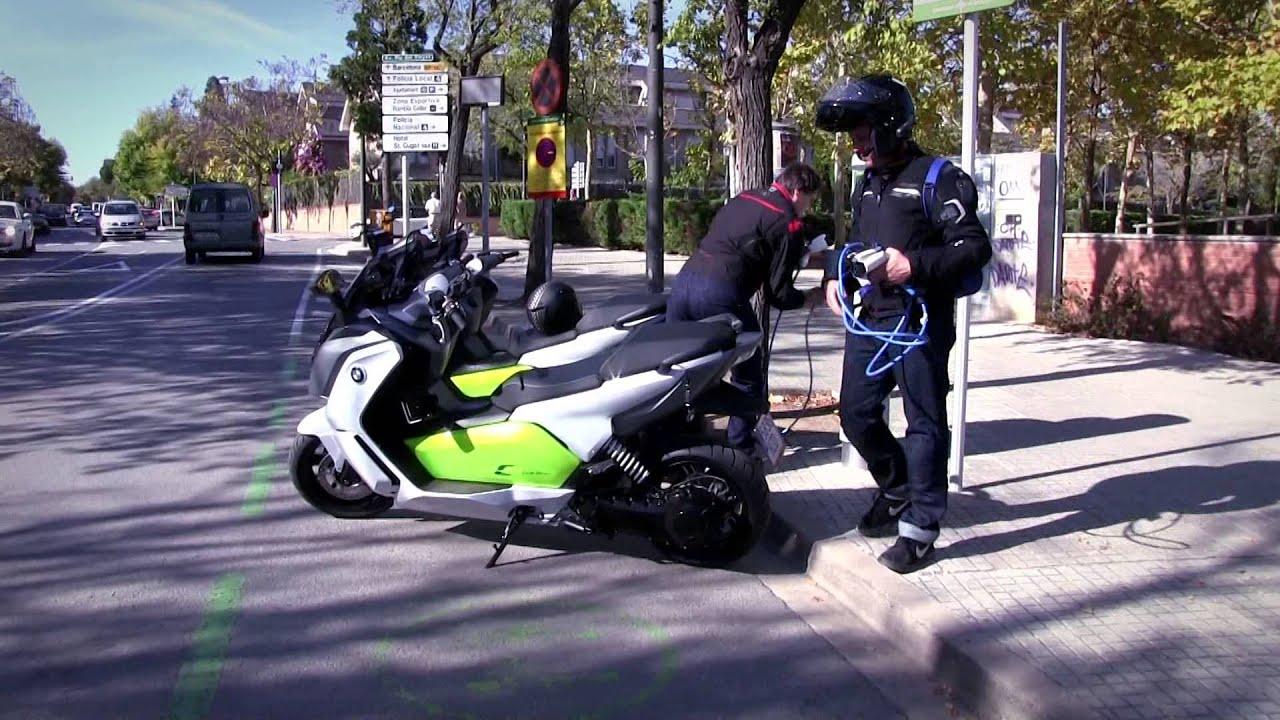 motos garage tv test bmw c evolution youtube