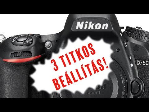 Nikon DSLR 3 hasznos beállítási trükk | digitális tükörreflexes kamera D7100 D7200 D750 etc. letöltés