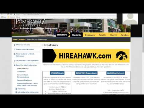 HireaHawk Employer Webinar - For Employers Recruiting for Student Employment Positions - 2017