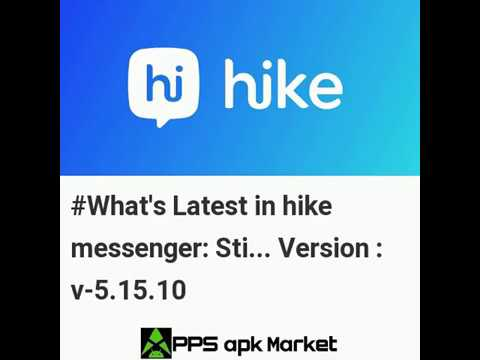 Latest Updates in hike messenger: Stickers, Hidden Chat