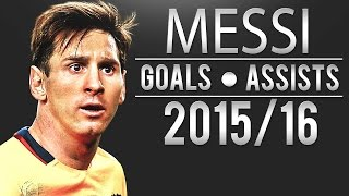 Lionel Messi All Goals&Assists - English Commentary | 2015/16 | HD