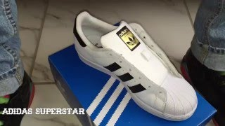 Adidas Superstar Lace up - YouTube