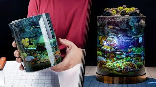 How to Make a Night Light Coral Reef Diorama // Resin Art // Subnautica