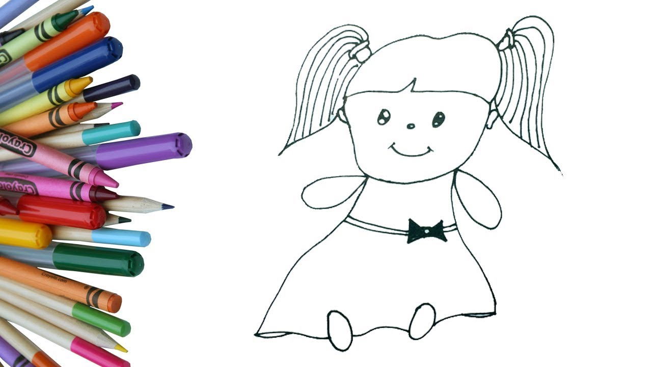 how to draw a cute doll for kids easy and simple doll drawing