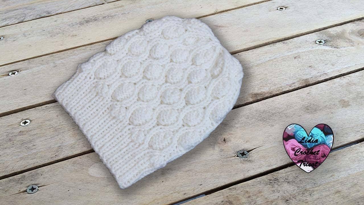 Bonnet Perles Tricot Toutes Tailles Aiguilles Circulaire Lidia