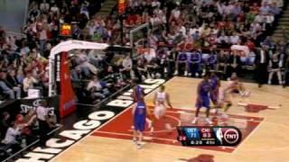Pistons-Bulls 91-99 I Bynum 20pts,9ast,Prince 20pts,6ast vs Hinrich 24pts,8ast,Gordon 19pts,6ast