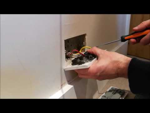 How to install a double USB electrical wall socket (dual USB ports) to replace existing wall socket